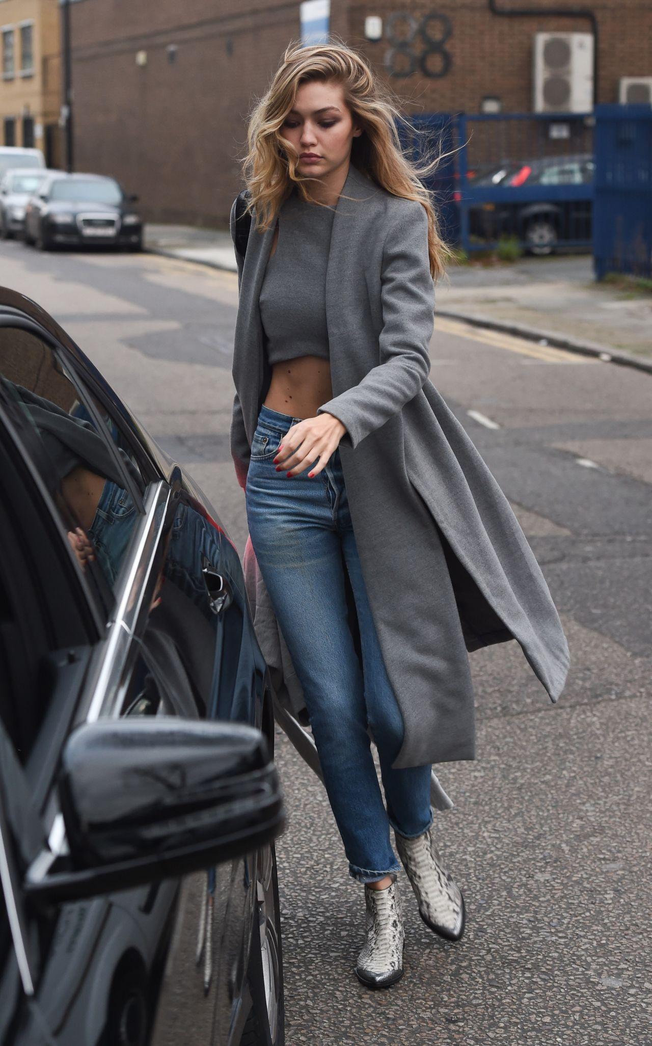 Gigi Hadid Casual Style Leaving Photo Studios In London