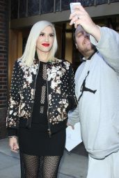 Gwen Stefani Style - Leaving Z100 Studios in New York City, December 2015