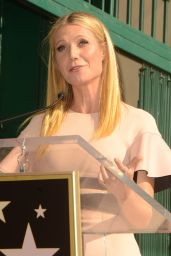 Gwyneth Paltrow at the Rob Lowe Hollywood Walk of Fame Ceremony in Hollywood, 12-8-2015