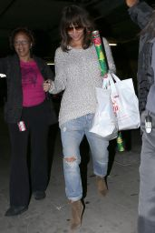 Halle Berry in RIpped Jeans - Shopping in Beverly Hills, December 2015