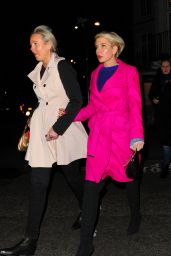 Heather Mills - Leaving Sexy Fish Restaraunt in London 12/23/2015