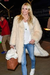 Heidi Klum Airport Style - LAX Airport in Los Angeles, 12/10/2015