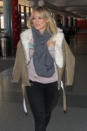 Hilary Duff Airport Style - LAX in Los Angeles, CA 12/15/2015