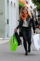 Hilary Duff - Shopping in Beverly Hills 12/12/2015