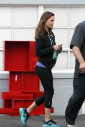 Hilary Swank Booty in Leggings - Leaving a Gym in Los Angeles 12/24/2015