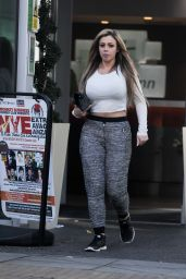 Holly Hagan - Leaves Her London Hotel, 12/9/2015