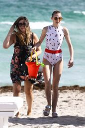 Jaime King in Swimsuit at a Beach in Miami, 12/12/2015