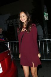 Jamie Chung Style - Arrives at Le Jardin Nightclub in West Hollywood, October 2015