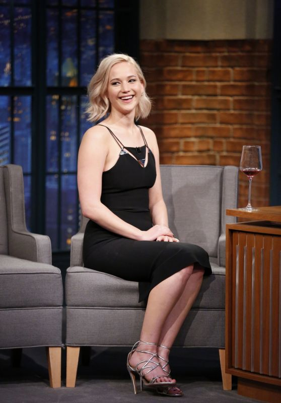 Jennifer Lawrence - Late Night With Seth Meyers in New York City, December 15 2015