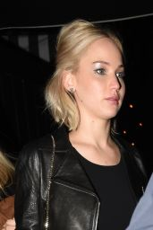 Jennifer Lawrence Night Out Style - Chiltern Firehouse in London, 12/17/2015