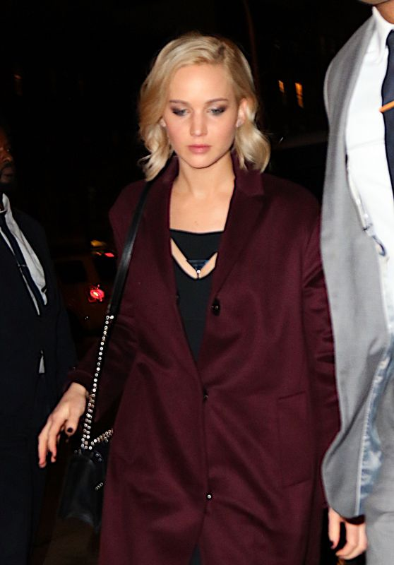 Jennifer Lawrence - Pego Club Restaurant in New York City, 12/15/2015