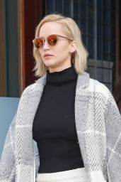 Jennifer Lawrence Style - Leaving Her Hotel in New York, 12/13/2015