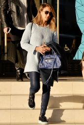 Jessica Alba Casual Style - Leaving Barneys New York in Beverly Hills, 12/20/2015