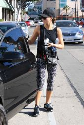 Jessica Alba in Leggings - Out in West Hollywood, November 2015