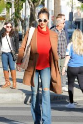 Jessica Alba - Shops at Club Monaco in Beverly Hills 12/23/2015