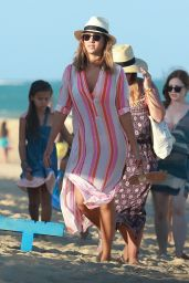 Jessica Alba - Vacation in Trancoso in Brazil 12/17/2015
