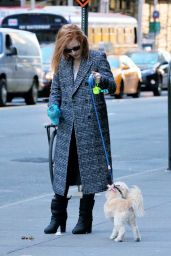 Jessica Chastain - Walks Her Dog Chaplin in New York City, December 2015
