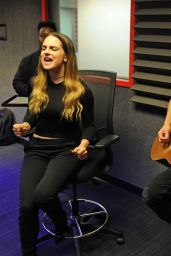 Joanna JoJo Levesque at Y100 Radio Station in Fort Lauderdale 12/9/2015