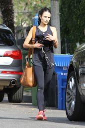 Jordana Brewster in Leggings - Out in West Hollywood, December 2015