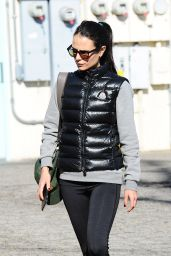 Jordana Brewster in Tights - Out in Brentwood, CA 12/15/2015
