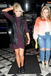 Jorgie Porter - Christmas Night Out in Manchester 12/23/2015