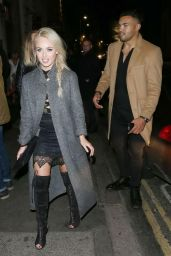 Jorgie Porter Night Out Style - Steam & Rye in London 12/23/2015