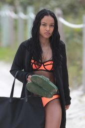 Karrueche Tran Hot in a Bikini - Miami, 12/18/2015