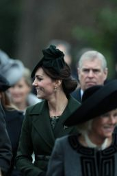 Kate Middleton - Attends the Christmas Day Service at St Mary Magdalene Church 12/25/2015