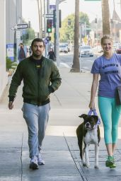 Kate Upton in Leggings - Out With Her Dog Harley in Beverly Hills 12/20/2015