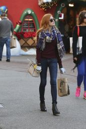 Katherine McNamara Casual Style - The Grove in West Hollywood, 12/17/2015