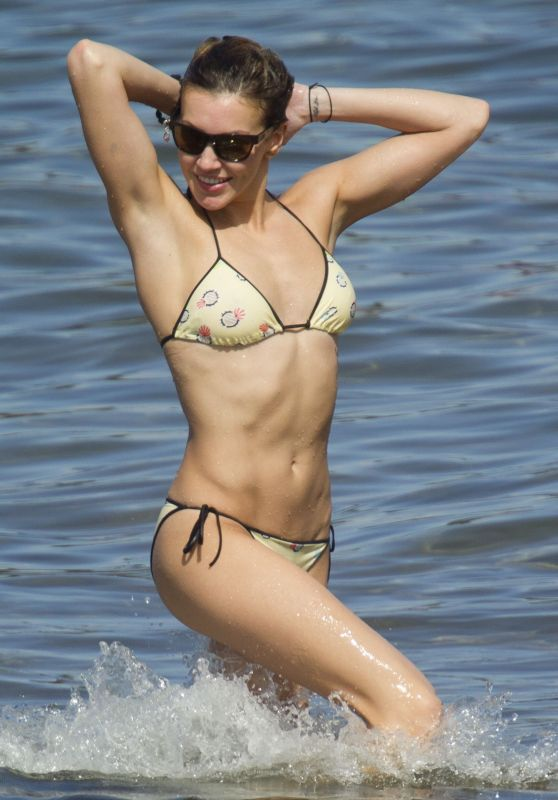 Katie Cassidy Bikini Candids - Beach in Miami, November 2015