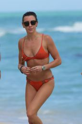 Katie Cassidy in a bikini at a Beach in Miami 12/22/2015