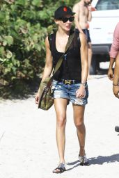 Katie Cassidy in a Bikini on the beach in Miami 12/30/2015