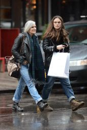 Keira Knightley and Her Mother - Leaving Dimes Restaurant in NYC, December 2015