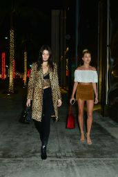 Kendall Jenner and Hailey Baldwin Style - Shopping in Beverly Hills 12/17/2015