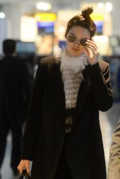 Kendall Jenner - Arriving at London Heathrow Airport, December 2015