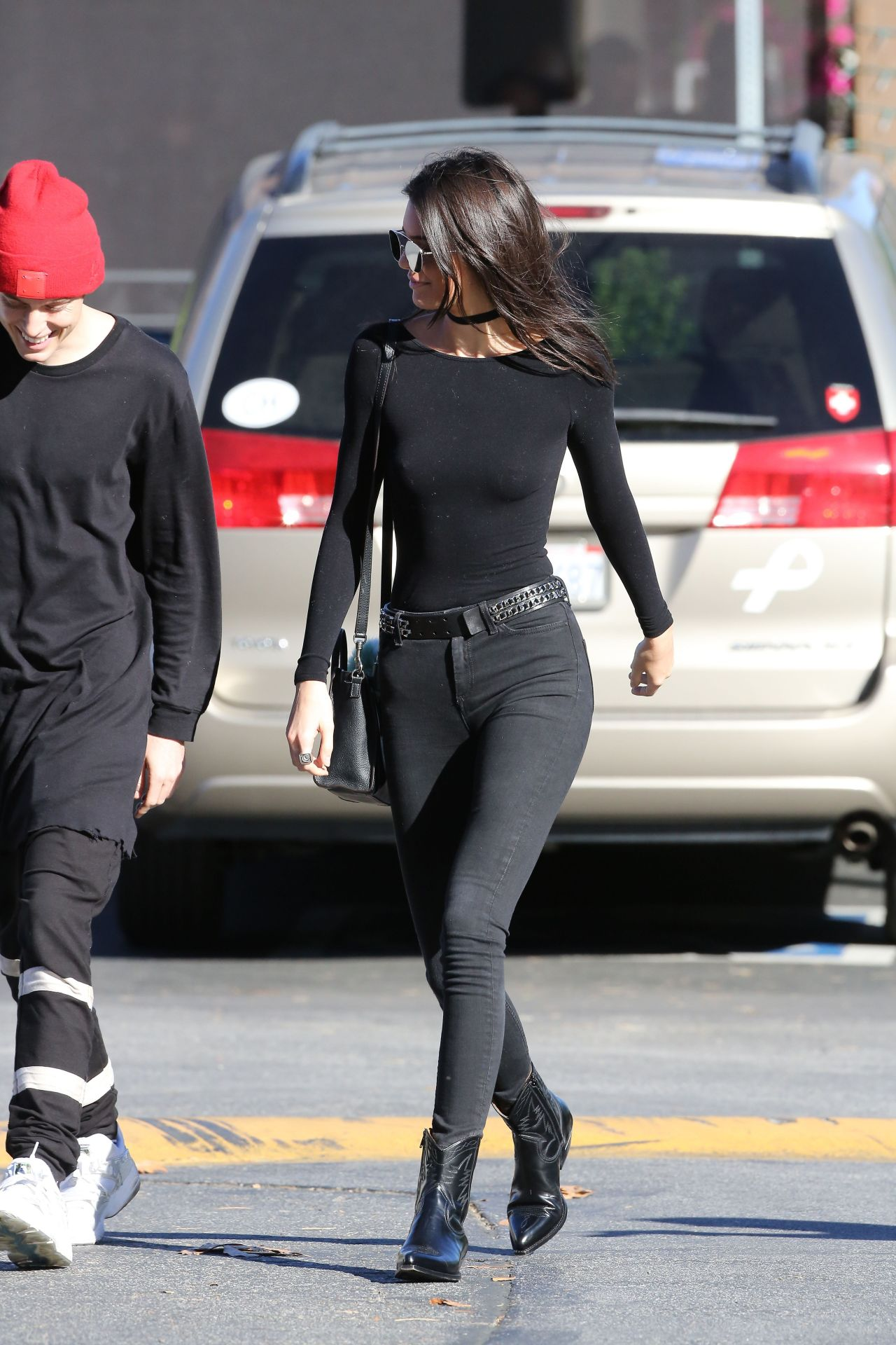 Kendall Jenner Booty In Tight Jeans Out In Calabasas 12