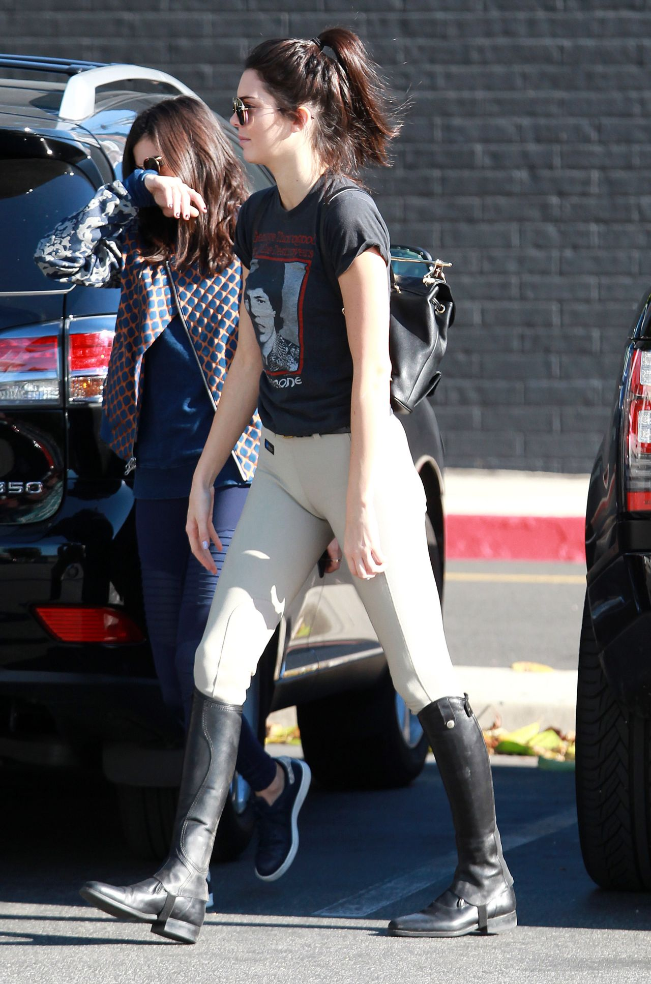 Kendall Jenner In An Equestrian Outfit Shopping At Leica