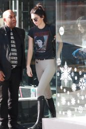 Kendall Jenner in an Equestrian Outfit - Shopping at Leica Store and Gallery Los Angeles 12/15/2015