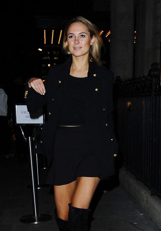 Kimberley Garner Night Out Style - Arriving at the Trapstar Party in London, 12/2/2015
