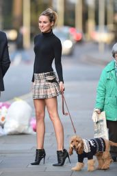 Kimberley Garner Wearing Short Skirt - Out in London 12/24/2015