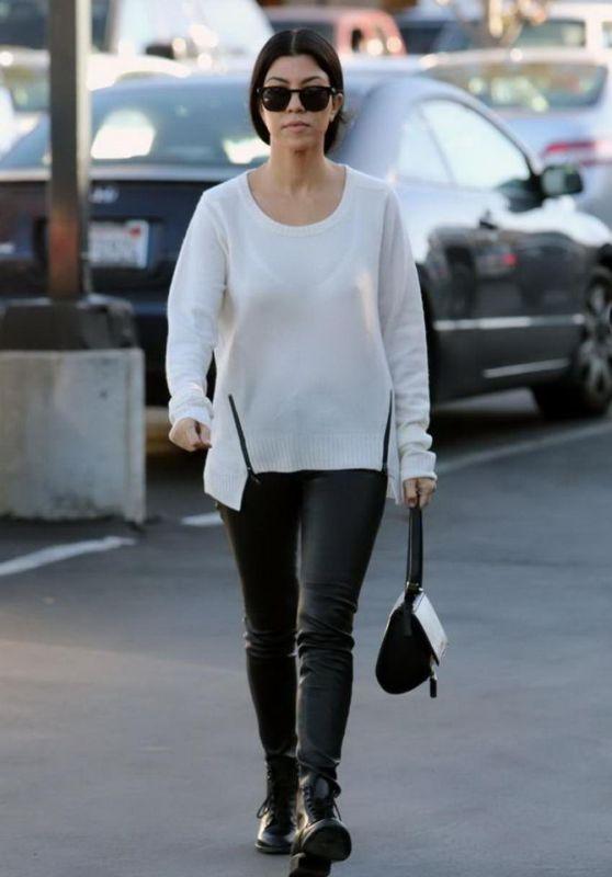 Kourtney Kardashian Casual Style - Christmas Shopping in Woodland Hills 12/24/2015