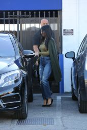 Kourtney Kardashian in Ripped Jeans - Leaving a Studio in Los Angeles, December 2015