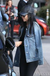 Kourtney Kardashian in Spandex - Out at Barney