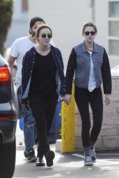 Kristen Stewart in Leggings - Out in Los Angeles, 12/24/2015