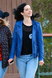 Krysten Ritter at Disneyland in Los Angeles, December 2015