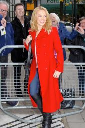Kylie Minogue at The BBC Radio 2 Studios in London, 12/6/2015