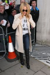 Kylie Minogue - Leaving BBC Radio 2 London, 12/4/2015