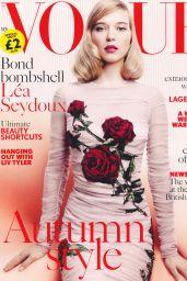 Léa Seydoux – Vogue Magazine UK November 2015 Issue