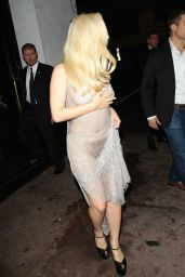 Lady Gaga Night Out Style - Leaving Beso Restaurant in Hollywood 12/19/2015